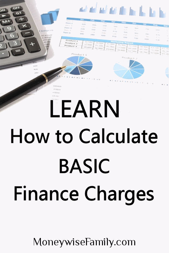 How to Calculate Basic Finance Charges
